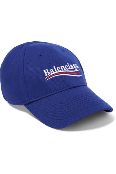 61fc53d4bec Balenciaga Embroidered Cotton Baseball Cap - Blue - One Siz In 4277 ...