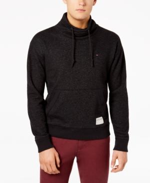 Tommy Hilfiger Men's Funnel-Neck Sweatshirt In Caviar