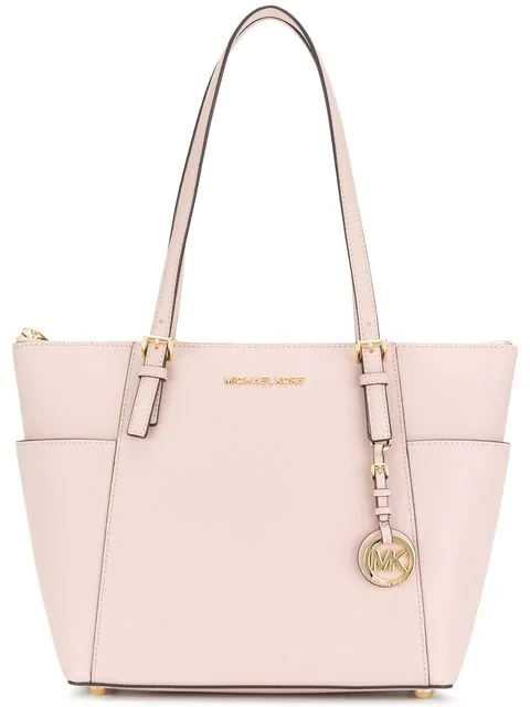 acc63194c9ea Michael Michael Kors Michael Kors Jet Set Item East West Top Zip Tote In  Pink
