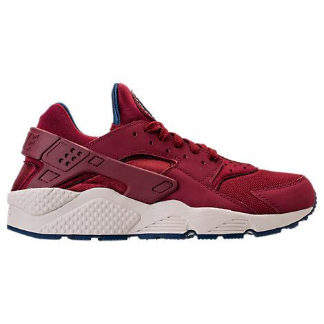 Nike Men's Air Huarache Run Running Sneakers From Finish Line In Team Red/Team Red-Navy-