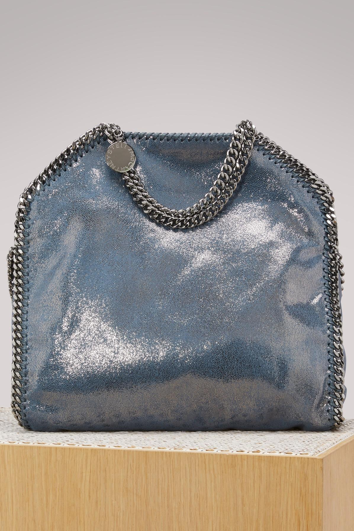 Stella Mccartney Falabella Shaggy Deer Metallic Faux Leather Tote - Blue In  Blue Lagoon dc288653f2fc3