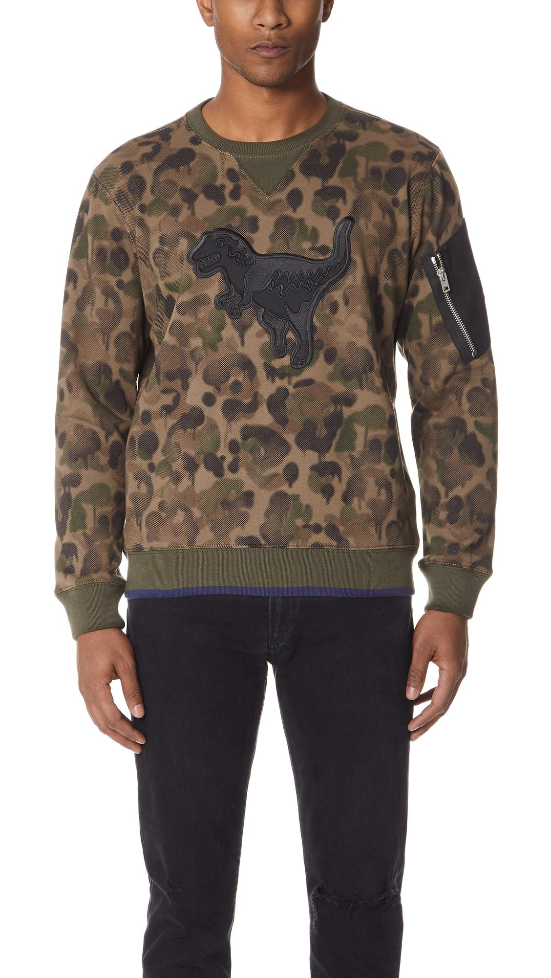 Coach 1941 Wild Beast Rexy Sweatshirt In Camo