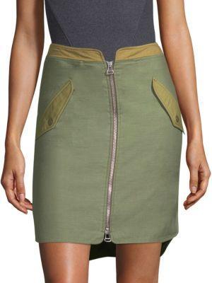 bb94ccc4c Rag And Bone Green Maverick Skirt in Army Green