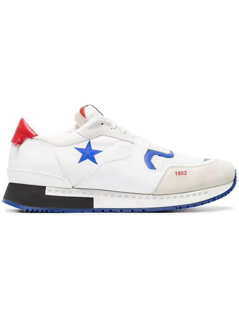 Givenchy White & Red Star Active Runner Sneakers
