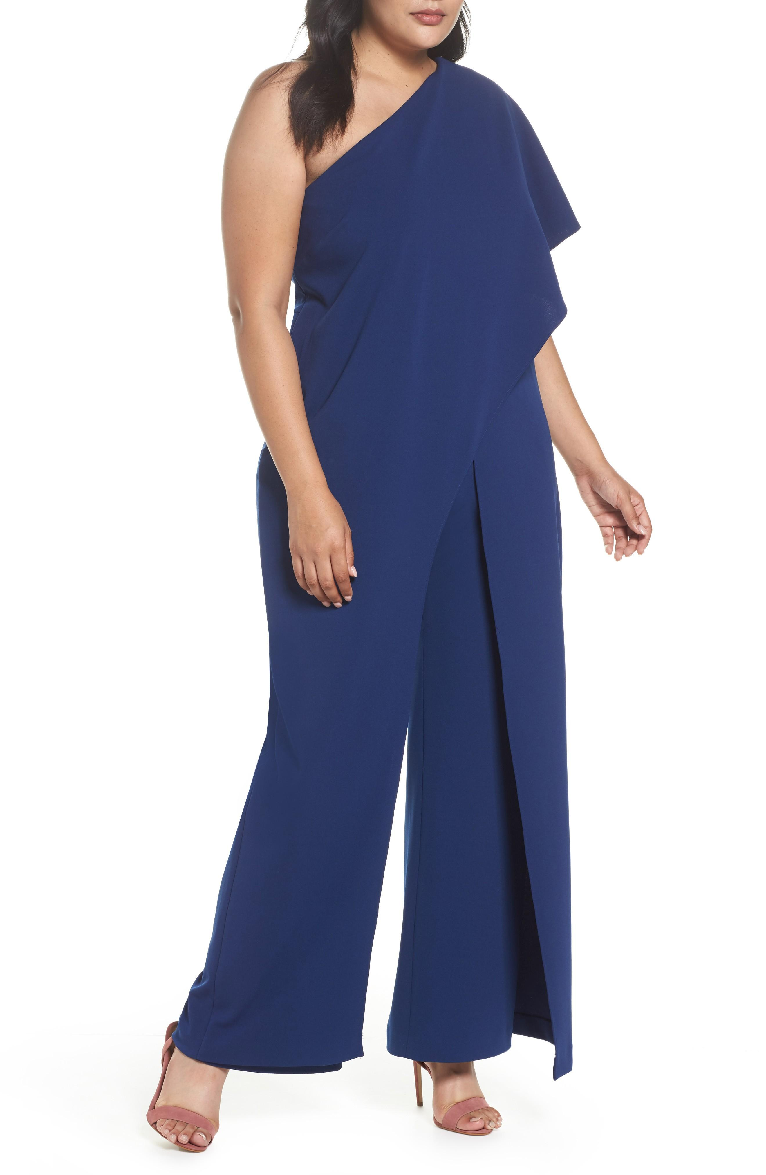 83f337a1381b Style Name  Adrianna Papell One-Shoulder Jumpsuit (Plus Size). Style  Number  5331879.