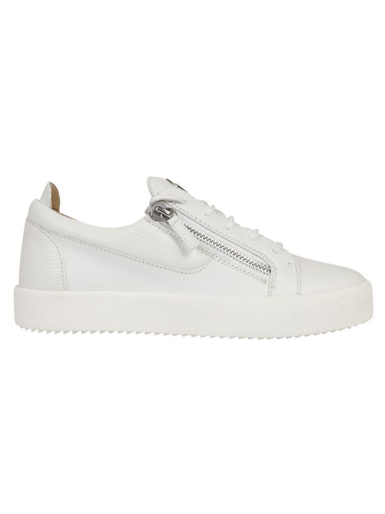 Giuseppe Zanotti Frankie Low-Top Sneakers In Bianco