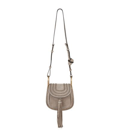 96b10a614d58b ChloÉ Hudson Small Studded & Braided Suede Shoulder Bag In Motty Grey