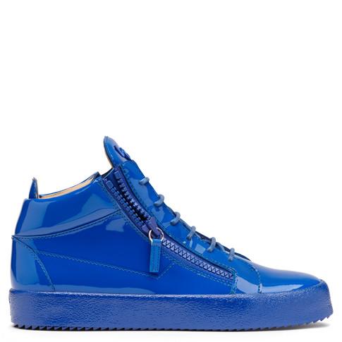 Giuseppe Zanotti - Blue Patent Leather Mid-top Sneaker Kriss