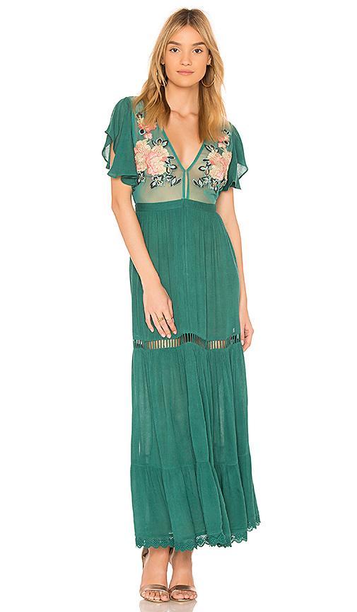 b49035e27d3 Cleobella Amery Maxi Dress In Green