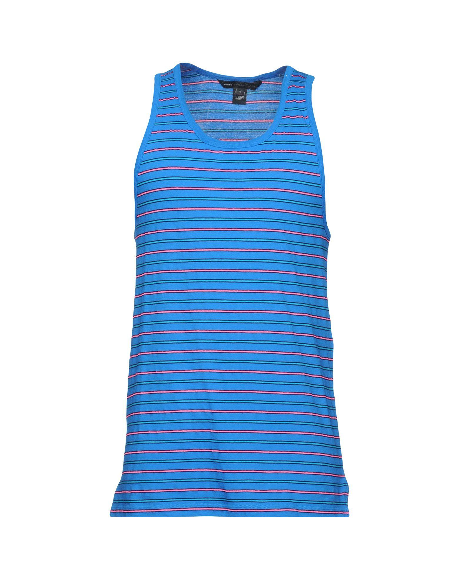Marc By Marc Jacobs Tank Tops In Blue