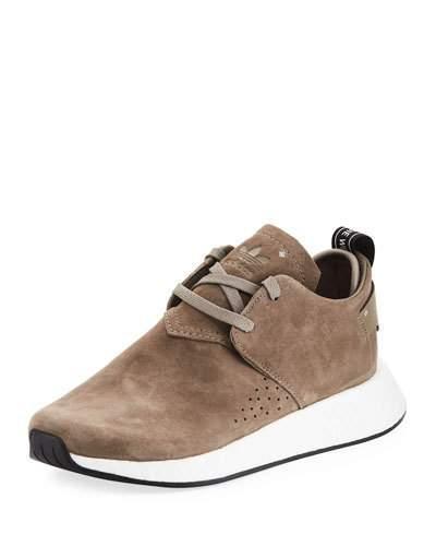 brand new 12552 e1051 ADIDAS ORIGINALS. Nmd C2 Nubuck Chukka Sneakers - Brown