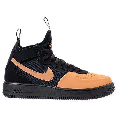 best service cdfe8 45eac Nike Men s Air Force 1 Ultraforce Mid Tech Casual Shoes, Yellow Black
