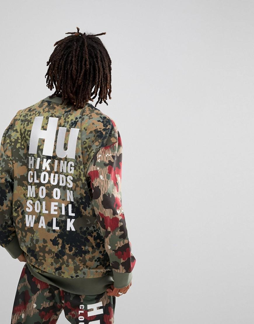 810675e1c Adidas Originals X Pharrell Williams Hu Hiking Sweat With Back Print In  Green Cy7863 - Green