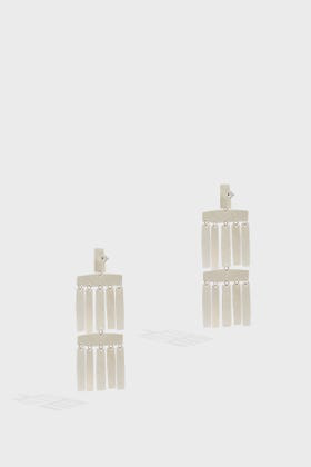 Annie Costello Brown Roma Silver-tone Brass Earrings