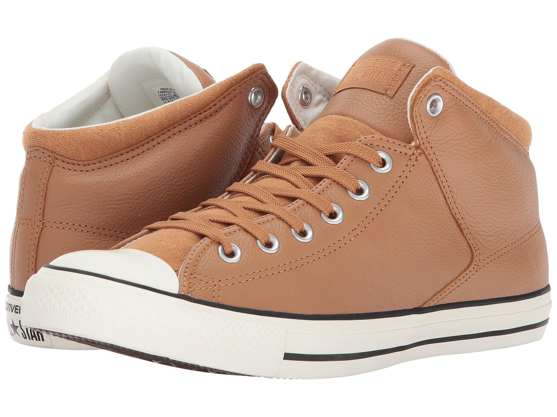 170994879b0bbd Converse Chuck Taylor All Star Street Hi - Tumbled Leather In Terra ...