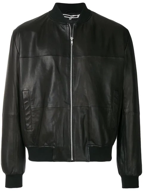 Mcq By Alexander Mcqueen Mcq Alexander Mcqueen Leather Bomber Jacket - Black