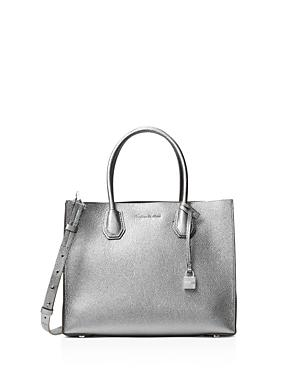 3d6474909ef3 Michael Michael Kors Studio Mercer Convertible Large Leather Tote In Light  Pewter/Silver