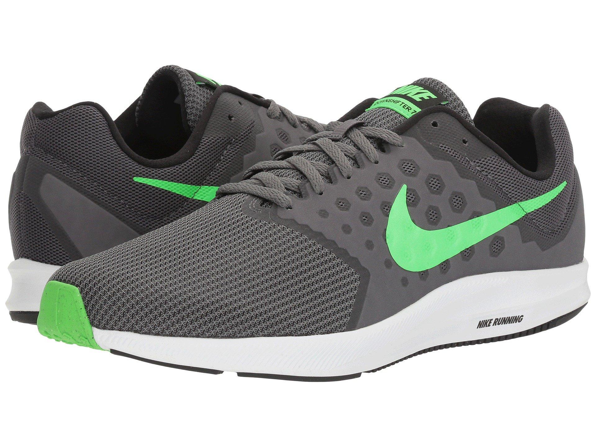 9af16a7a1f5c Nike Downshifter 7 In Dark Grey Rage Green White Black