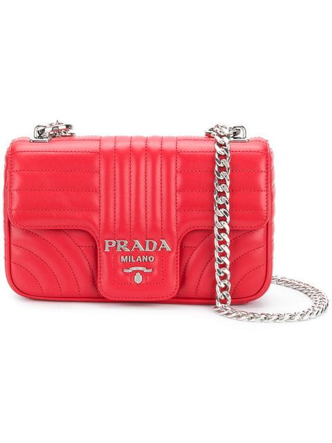3ae4c49d813d Prada Small Quilted Soft Leather Shoulder Bag In Red | ModeSens