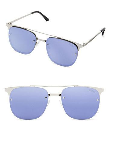 6c81042aa746c Quay Australia Private Eyes 49Mm Winged Aviator Sunglasses-Silver Violet