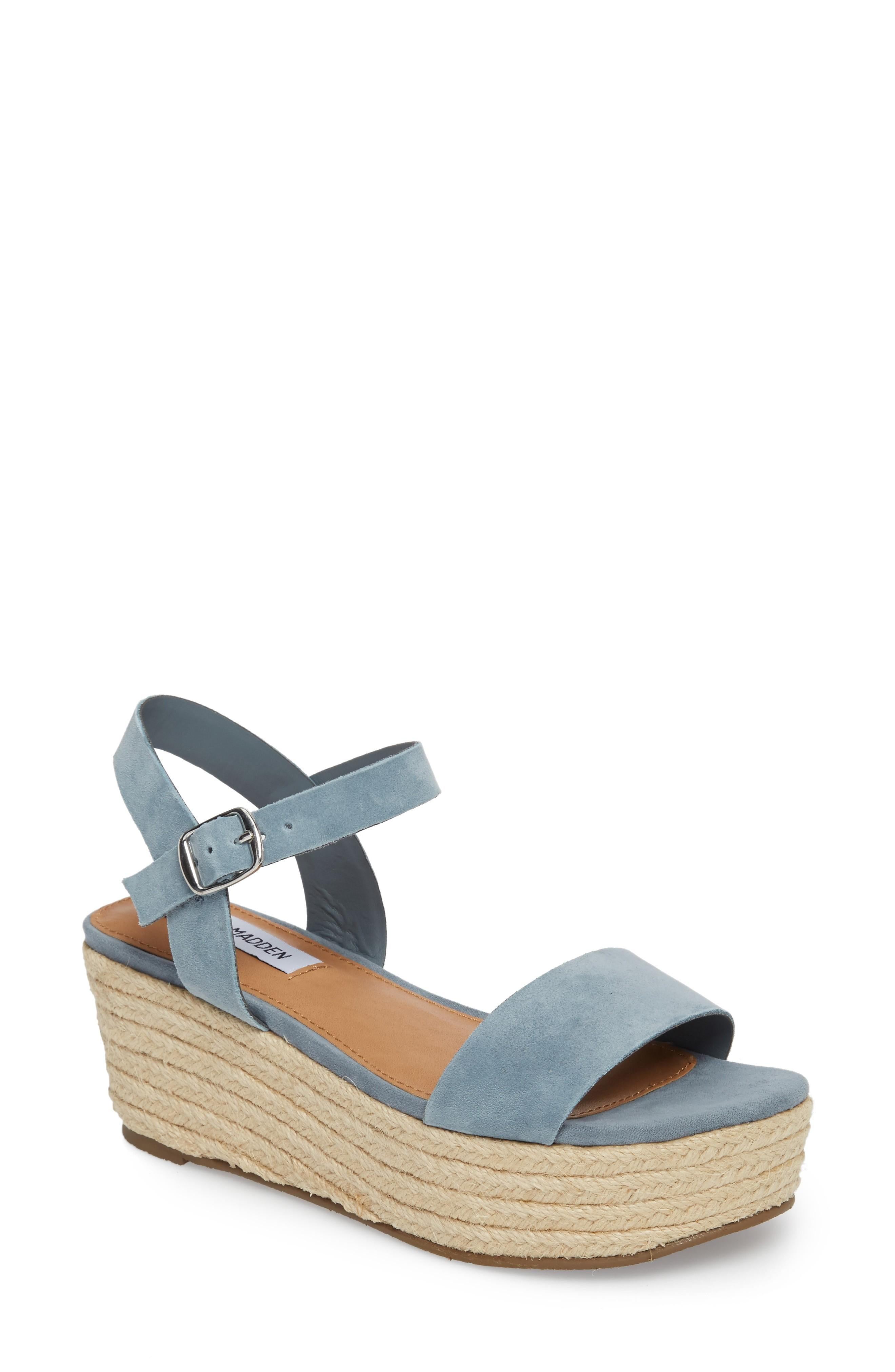 194157acce7 Busy Platform Espadrille Sandal in Blue Suede