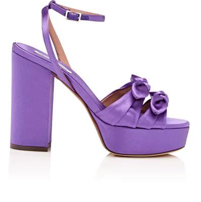 Tabitha Simmons Jodie Satin Platform Sandals In Viosat