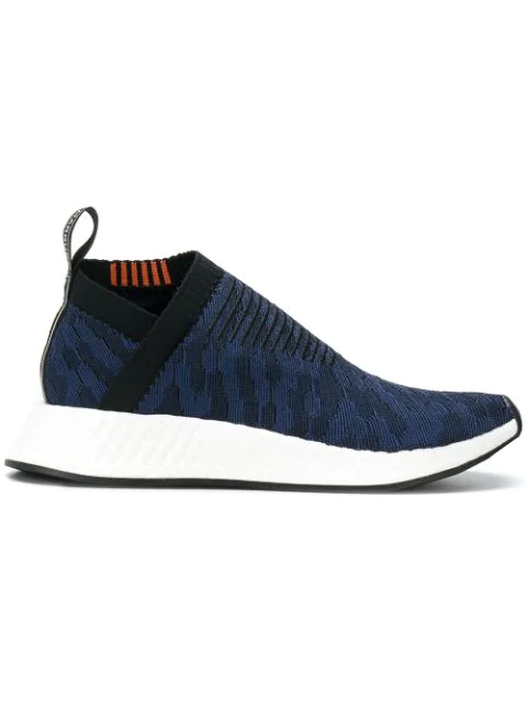 0843b04bdaf7d Adidas Originals Nmd Cs2 Shadow Knit Sneakers In Navy - Navy In Cnf ...