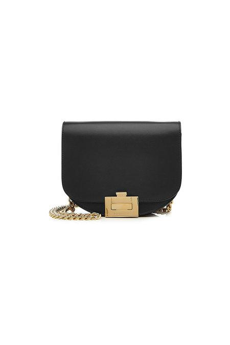 bc5f1e7a5fdca Victoria Beckham Nano Half Moon Box Leather Shoulder Bag In Black ...