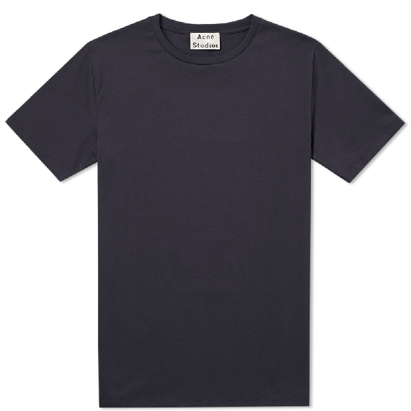 Acne Studios Cotton-Jersey T-Shirt In Blue