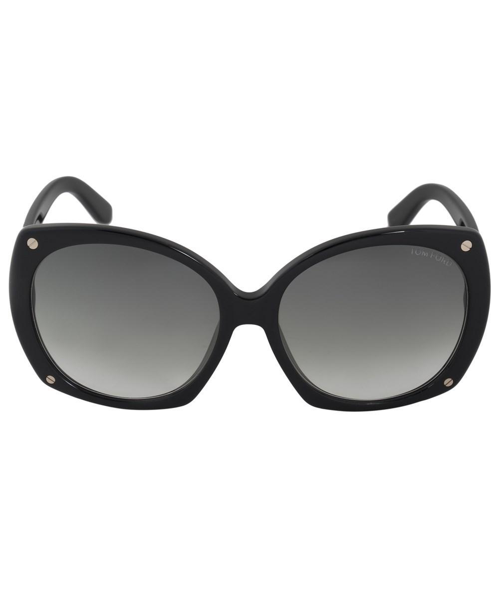 ea02937b30 Tom Ford Gabriella Oval Sunglasses Ft0362 01B 59