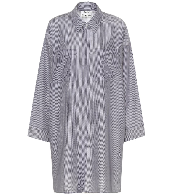 Acne Studios Jacqui Striped Cotton Shirt In White Pinst