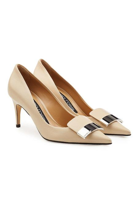 Sergio Rossi Leather Pumps In Beige
