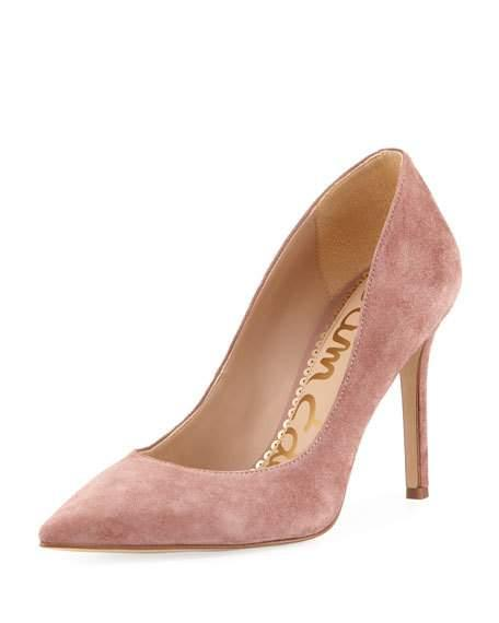 0399e2ebed7 Sam Edelman Hazel Suede Pointed Pump In Dusty Rose Suede