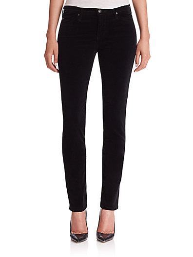 A.w.a.k.e. 'prima' Mid Rise Cigarette Jeans (super Black)