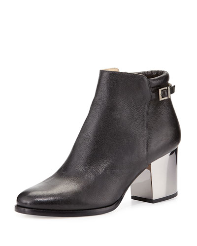 Jimmy Choo Method 65 Grainy Leather Ankle Boots In Black