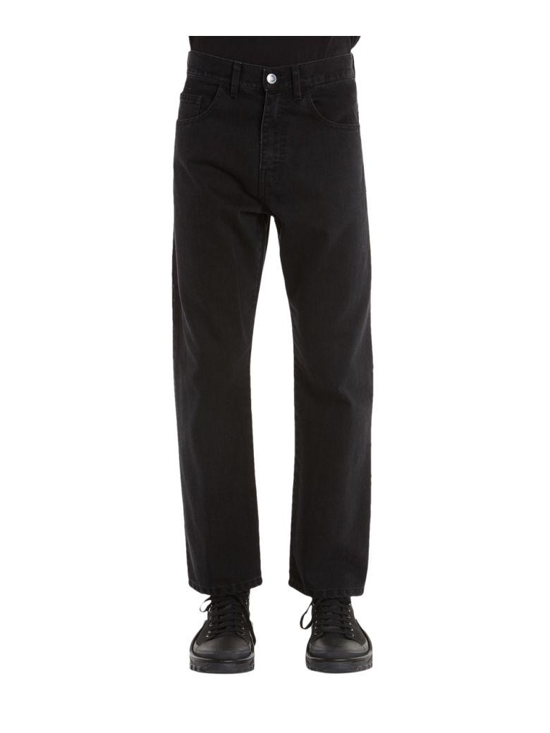Raf Simons Cotton Denim Jeans In Nero