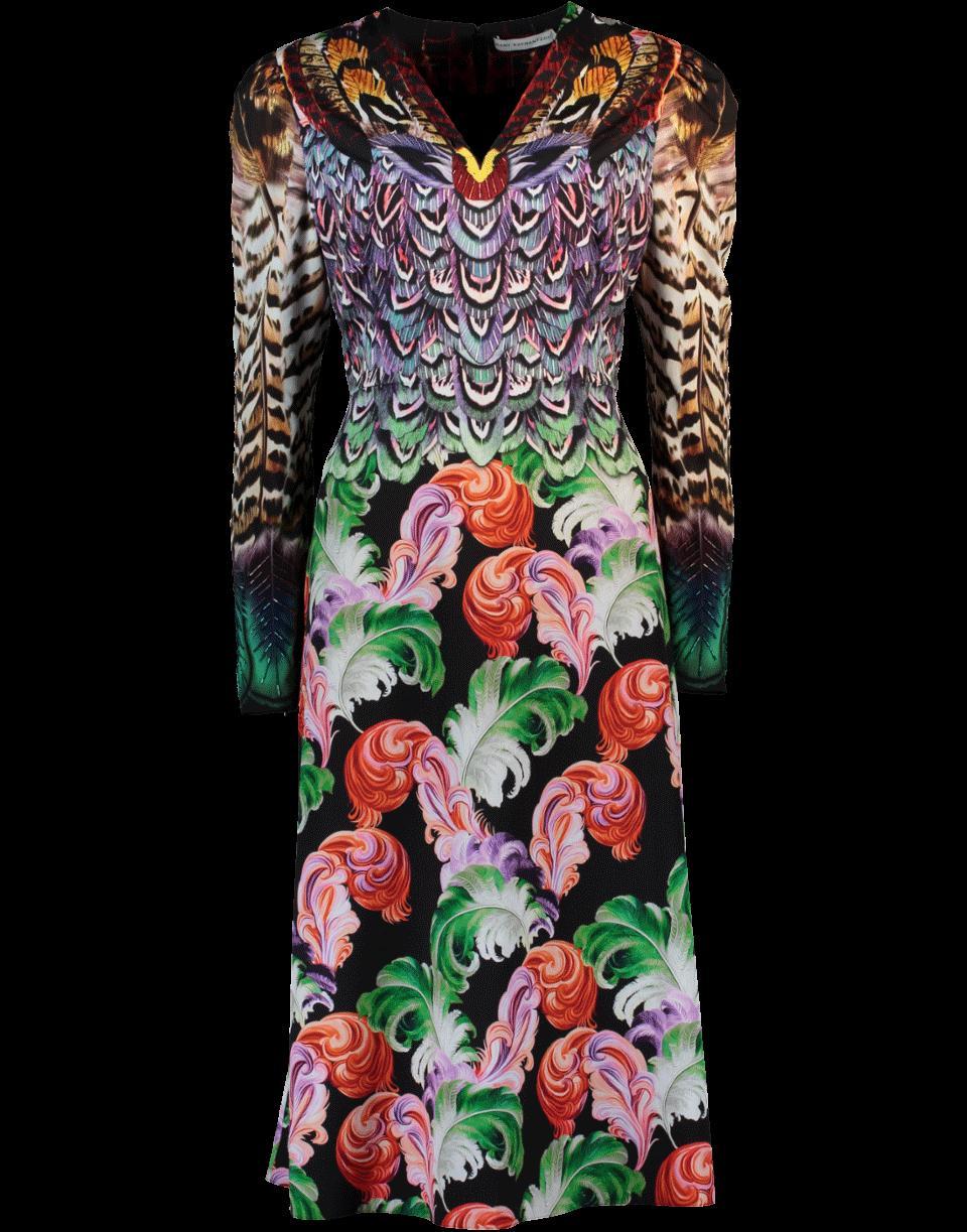 Mary Katrantzou Pheasant Dress In Multicolour