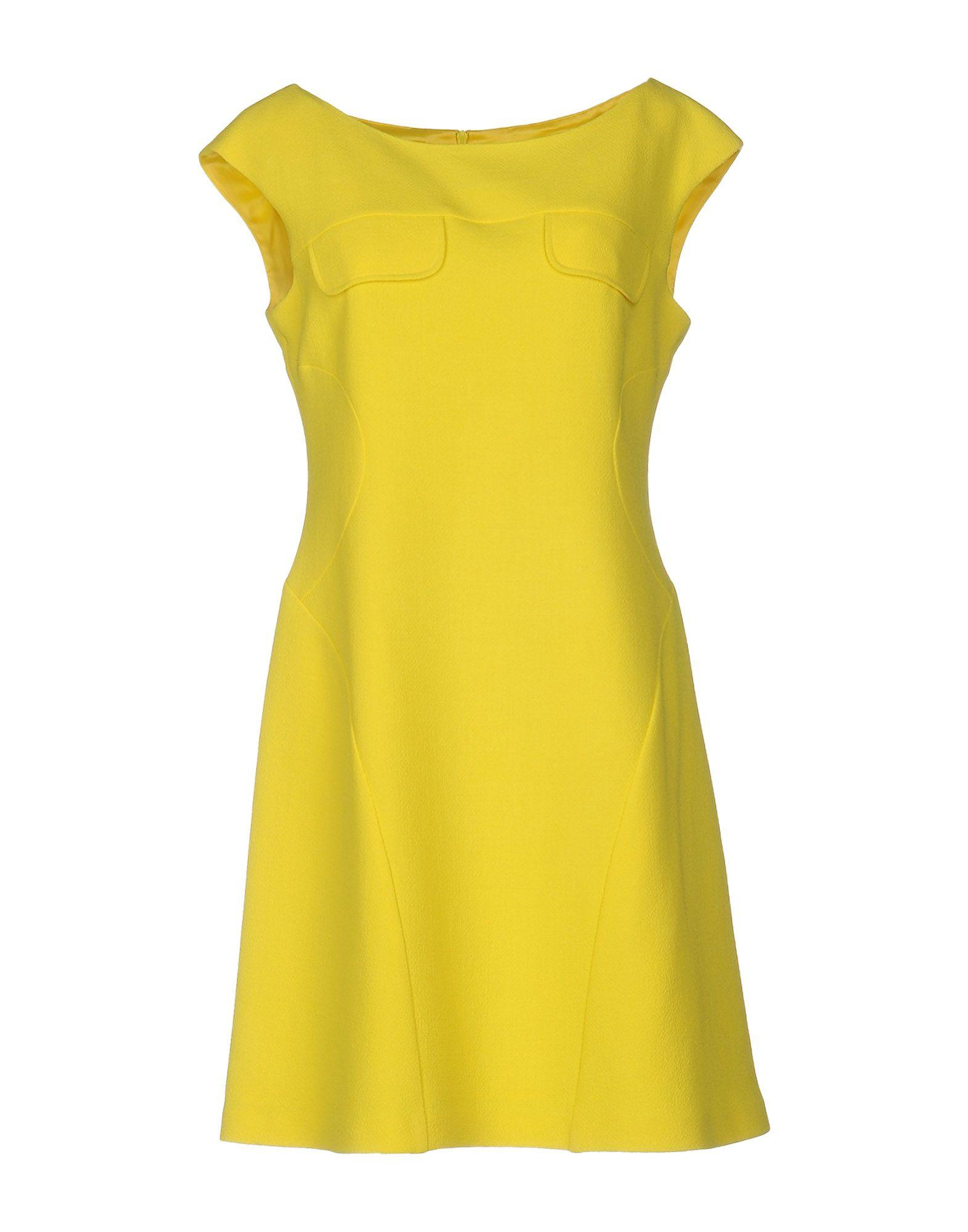 Moschino Cheap And Chic Short Dress In Yellow