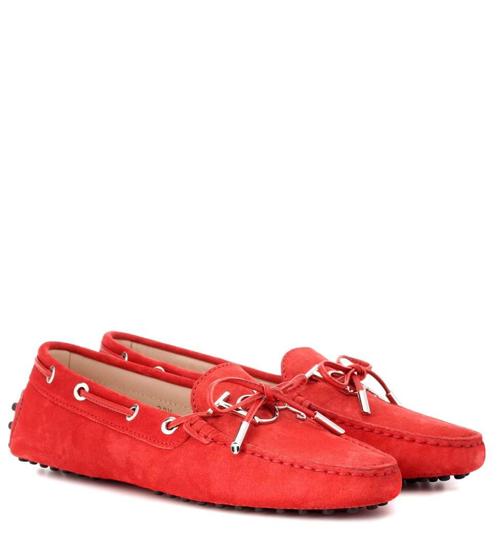 Tod's Gommino Heaven Driving Shoes In Red