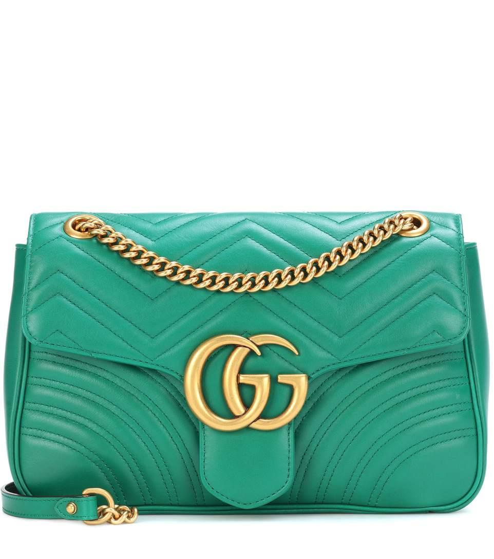 c910fbb04 Gucci Mini Gg Marmont 2.0 Matelasse Leather Shoulder Bag - Green In Female