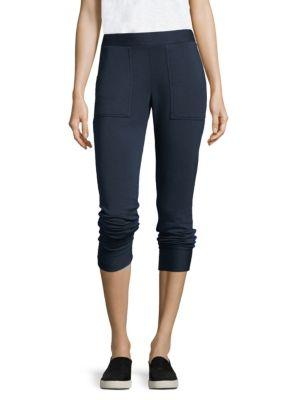 Stateside Wool And Cashmere Slim-Fit Track Pants In Navy