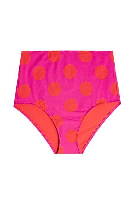 d7628bfa5c Mallory High Waisted Bikini Bottoms in Polka Dots