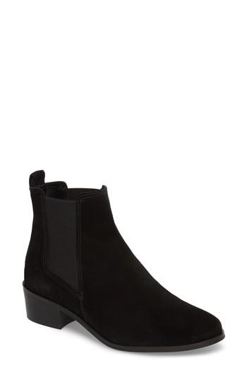 a5bd0b59441 Steve Madden Dover Chelsea Bootie In Black Suede