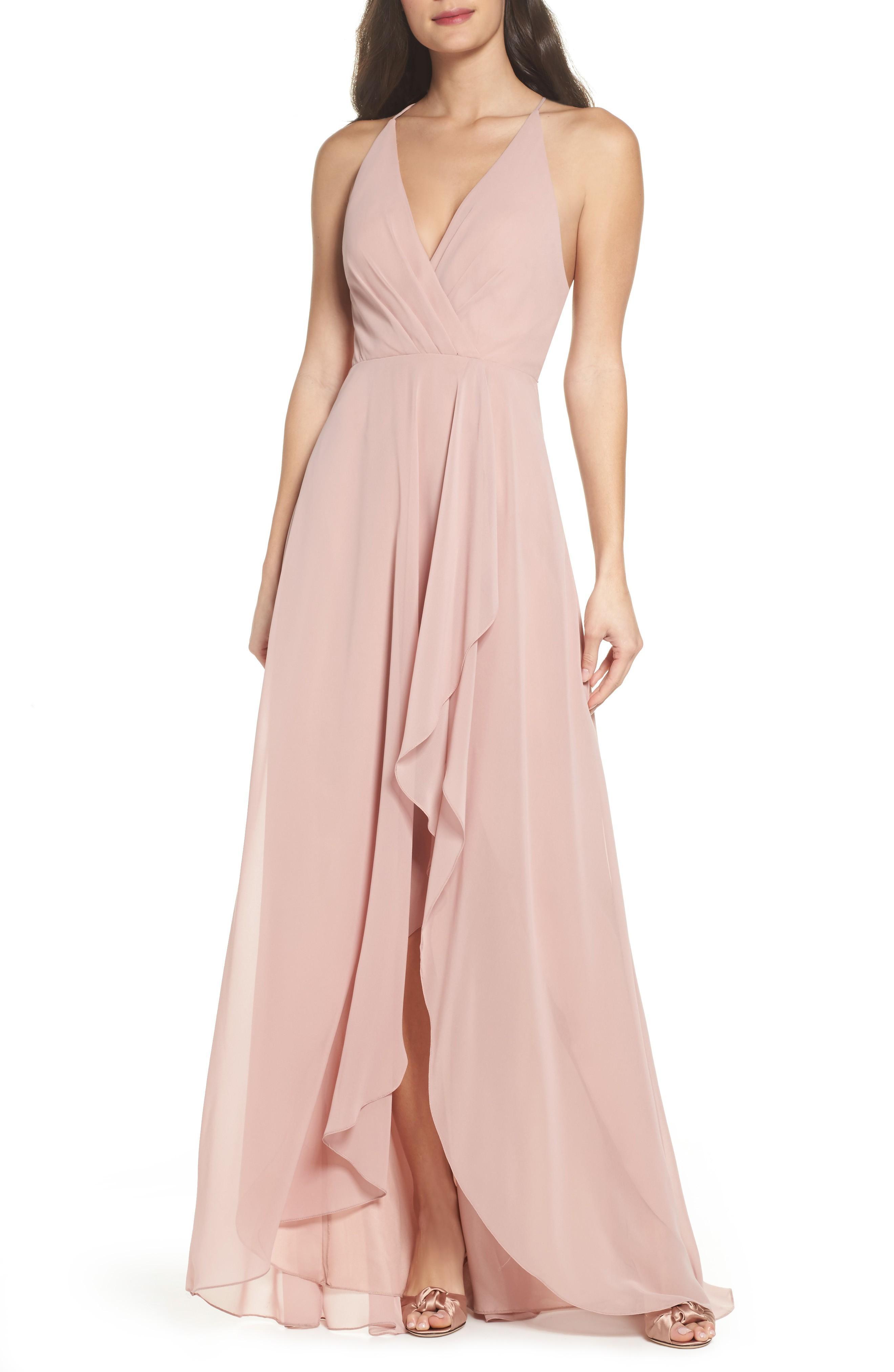 953ca16544e Jenny Yoo Farrah Ruffle Skirt Chiffon Gown In Whipped Apricot