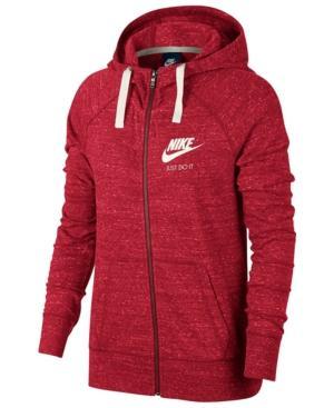 Nike Gym Vintage Full-Zip Hoodie In Tropical Pink/Sail