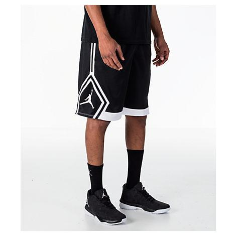 66b0a2467ea Nike Men's Air Jordan Rise Diamond Basketball Shorts, Black | ModeSens