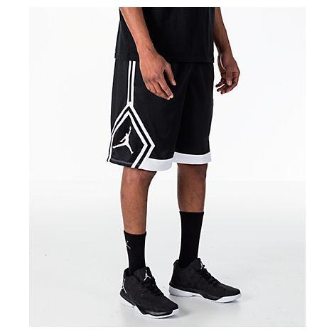 7d3774c9c32 Nike Men's Air Jordan Rise Diamond Basketball Shorts, Black | ModeSens