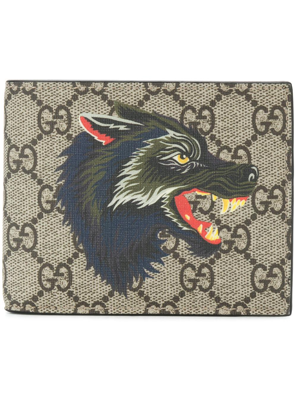 ed9665494fa3 Gucci Signature Wolf Wallet | ModeSens
