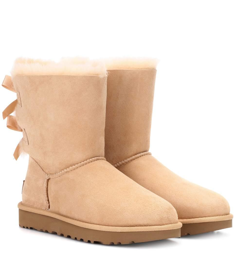 Ugg Bailey Bow Ii Suede Boots In Beige