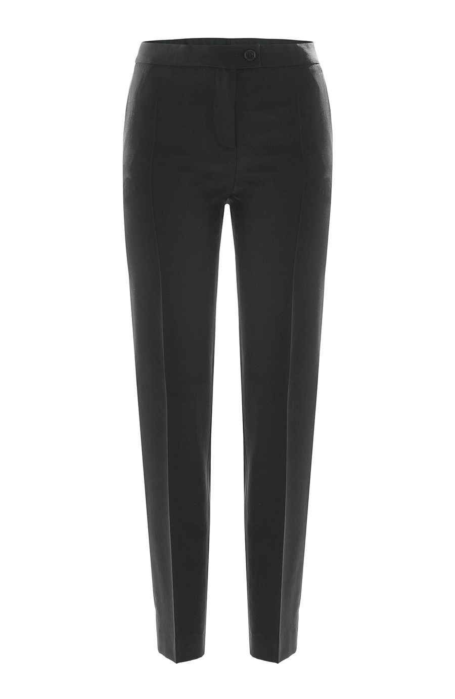 Boutique Moschino Virgin Wool Skinny Pants In Black
